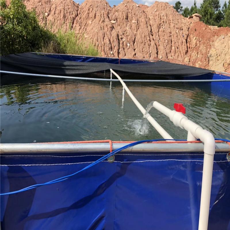 高密度養殖水池 水池養殖帆布水池 大棚養殖水箱