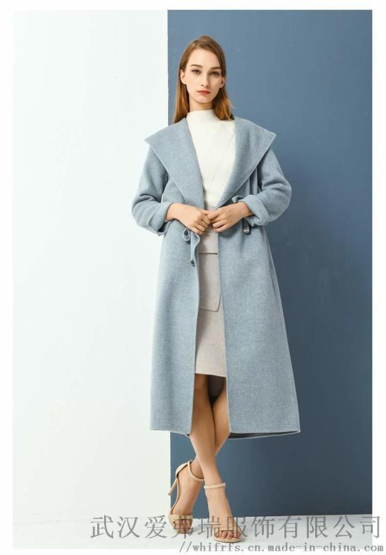 开服装店怎么去厂家拿货艾利欧格子羊毛毛呢外套女