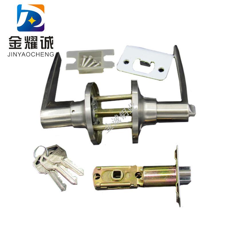 飞球L型执手锁 柱式锁 彩钢板房配件净化门配件