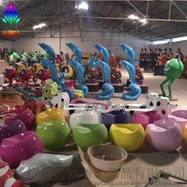 海洋公园装备道具 多款式海龟海豚章鱼海浪企鹅海星浪花柱工艺品 承接海洋主题场景装饰