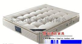 广州优冠酒店客房床垫家具 海马床垫席梦思弹簧单双人软硬椰