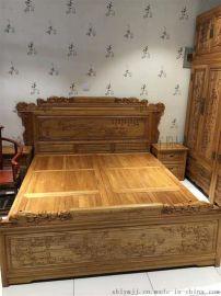 1.8米实木床老榆木品牌家具代理