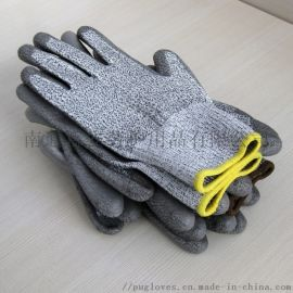 厂家供应迪耐码涂灰色PU防切割手套