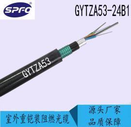 太平洋光缆 GYTZA53-24B1.3 24芯单模光纤 阻燃铠装室外光缆 直埋