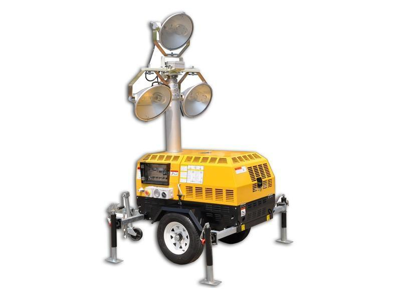 探照燈金鹵素燈LED燈杆4米-10米型號齊全山東路得威廠家直供 大品牌生產質量保證 RWZM51C照明車