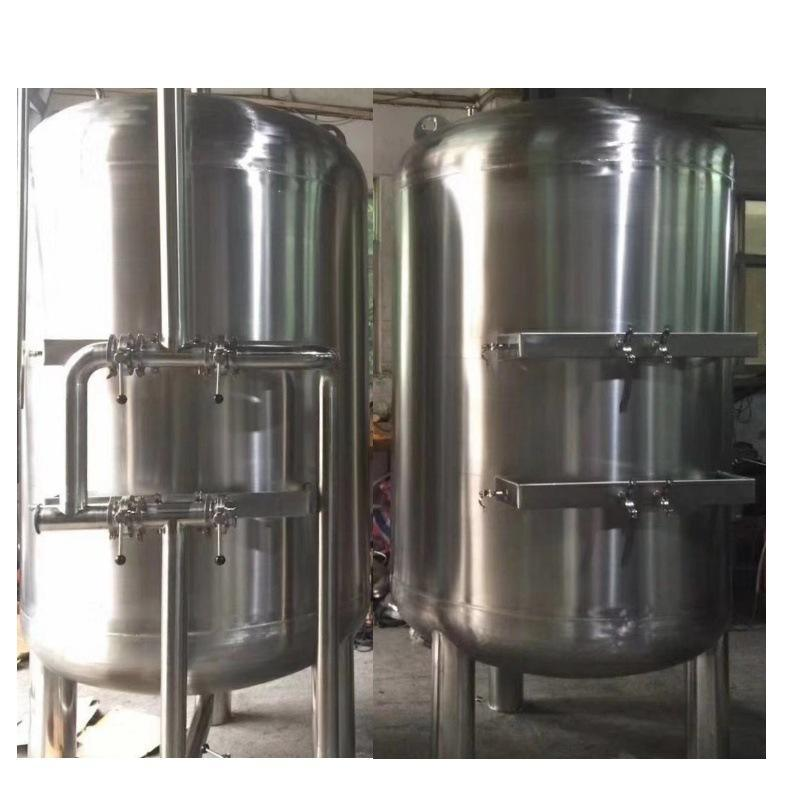 多介质过滤不锈钢罐 双层保温 多介质过滤水罐