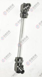 高品质不锈钢简易型水位计 玻璃管式水位计 液位计角阀 G1/2考克