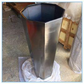 厂家定制八边形黑钛不锈钢花盆园林绿化装饰定制花盆