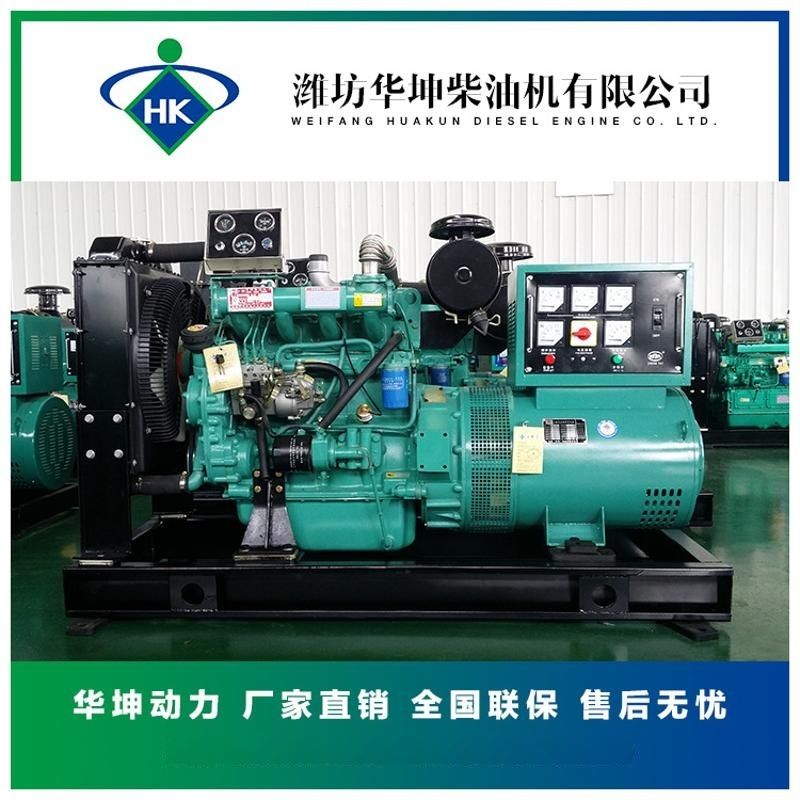 50kw柴油發電機組 濰坊R4105ZD發動機配無刷電機 柴油發電機組