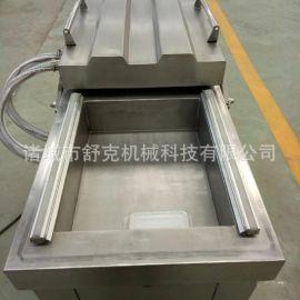 可定制各种下凹尺寸真空包装机 600型双室凹槽式真空包装机不锈钢
