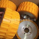 PU包胶轮 铁芯铝芯包聚氨酯轮 优力胶包胶轮