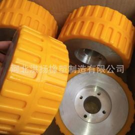 PU包膠輪 鐵芯鋁芯包聚氨酯輪 優力膠包膠輪