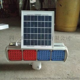 太阳能爆闪灯四灯双面警示灯信号频闪灯道路LED