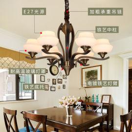 琪美烛光灯饰2019新款美式风格客厅餐厅个性创意灯具