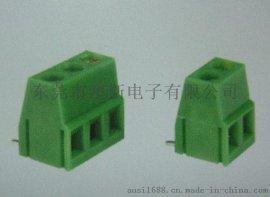 90度弯针升降式端子台YB312R绿色连接器FS128R-5.0/5.08