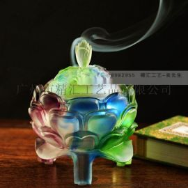 琉璃香炉厂家批发,琉璃莲花香炉,广州琉璃香炉厂家,琉璃工艺品,琉璃香薰炉,琉璃佛教用品,琉璃礼品定制
