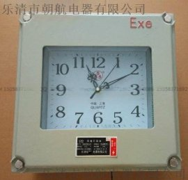 BKK壁挂防爆时钟 铝壳方形,圆形 防爆电子仪表钟指针式 300*300