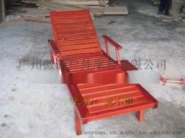 广东户外家具厂供应酒店躺椅 户外躺椅 休闲沙滩椅 木制沙滩椅