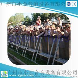 大型活动户外观众围栏,铝合金高强度防护栏