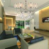 歐式現代鐵藝水晶吊燈客廳餐廳臥室吊燈6617