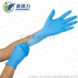 厂家批发 一次性丁腈手套 9寸蓝色一次性无粉丁晴橡胶净化耐油耐酸碱手套
