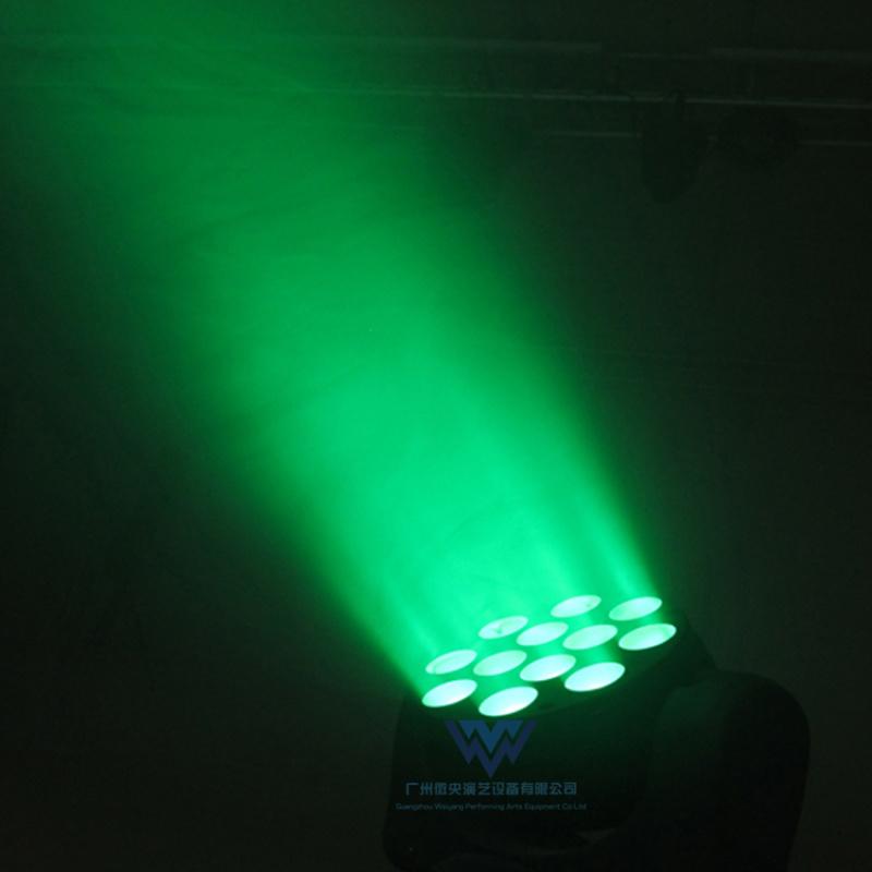 12颗LED摇头光束灯10W四合一舞台染色灯
