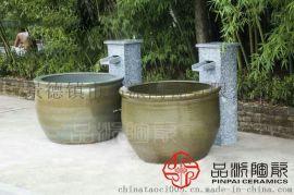 找温泉会所专用洗浴缸 日式洗浴大缸 陶瓷泡澡缸