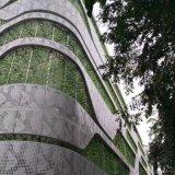 上海江南地段2.0厚白色雕花铝单板外墙装饰