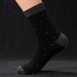厂家批发中筒棉袜 贴牌外贸针织袜子 五本指中筒商务袜