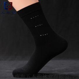 防臭袜厂家贴牌代工  纯棉中筒商务袜 五本指品牌棉袜