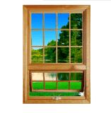 洛克木鋁復合門窗實木門窗斷橋鋁型材門窗