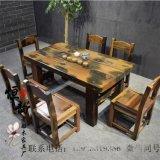 爆款老船木餐桌|茶椅|老船木圈椅工厂直销