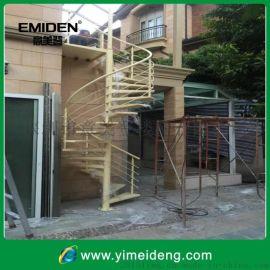 供应室外碳钢旋转楼梯YMD-1216