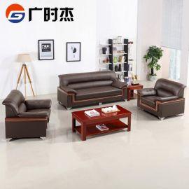 办公室沙发茶几组合 商务接待会客单人双人三人沙发组合办公沙发
