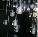 現代創意泡泡水晶球流星雨吊燈酒店大堂中空別墅螺旋樓梯水晶燈具