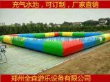 夏季熱銷的室外充氣水池游泳池/移動水上樂園