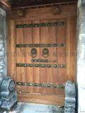 西安榆木大门,铜钉大门,仿古大门,实木大门