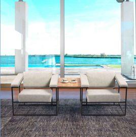 接待单人位沙发 时尚钢架沙发椅 休闲沙发厂家