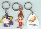 橡膠微量射出鑰匙扣禮品,卡通吉祥物吊飾禮品