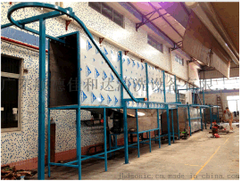 专业定做 水槽除蜡超声波清洗线 不锈钢水槽悬挂链式自动清洗烘干线