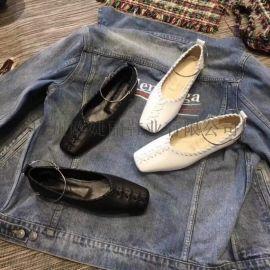 定制平跟鞋,定做方头鞋,加工女鞋