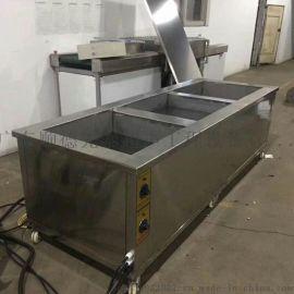 佛山连体三槽式超声波鼓泡除油清洗烘干一体机 顺德超声波清洗机