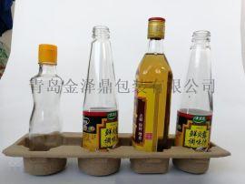 山东(青岛)绿色环保低成本纸浆托包装玻璃容器