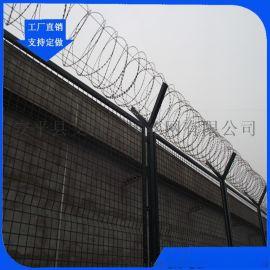 监狱钢网墙厂家 防逃网图片 Y型柱护栏网厂家