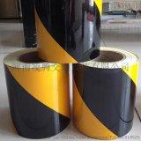 黑黄斜纹施工反光膜反光条