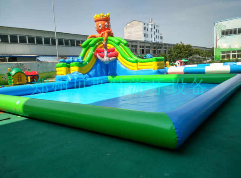 內蒙古赤峯室外移動水上樂園廠家定做質量好支架游泳池