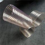 不含塑化剂聚氨酯PU钢丝伸缩软管钢丝吸尘管