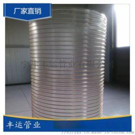 丰运PU弹性钢丝软管厂家聚氨酯TPU吸尘管木工陶瓷行业集尘软管