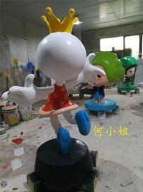 树脂彩绘卡通动物雕塑丑小鸭变天鹅卡通鸭子雕塑摆件