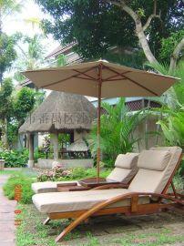 专业定制海南三亚实木沙滩椅
